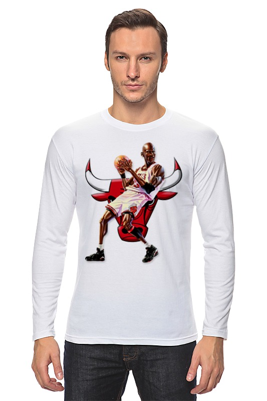 Лонгслив Printio Michael jordan cartooney