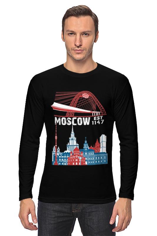 Лонгслив Printio Moscow. establshed in 1147 лонгслив printio московская область москва