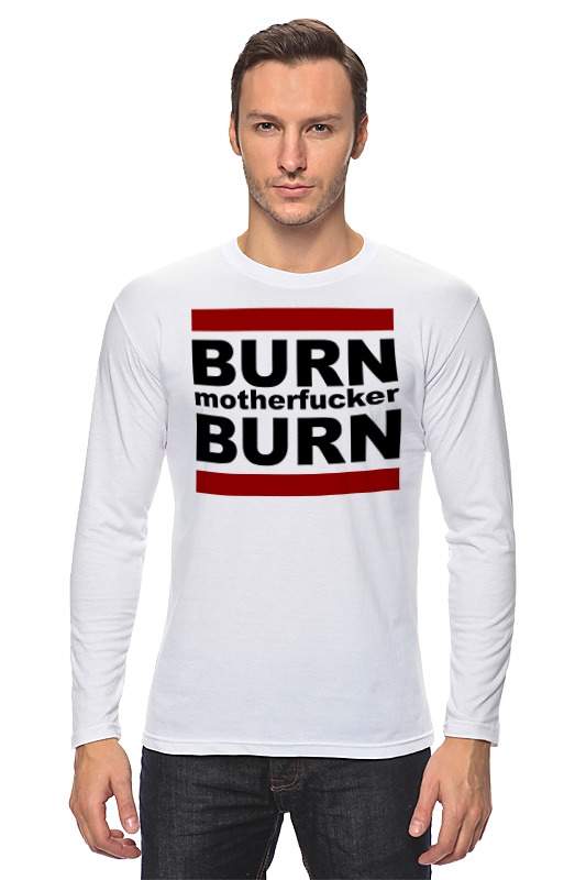 Лонгслив Printio Burn! сумка printio burn