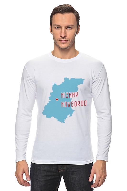 Лонгслив Printio Нижегородская область. нижний новгород куплю чехол длябронежилета б у в нижегородской области