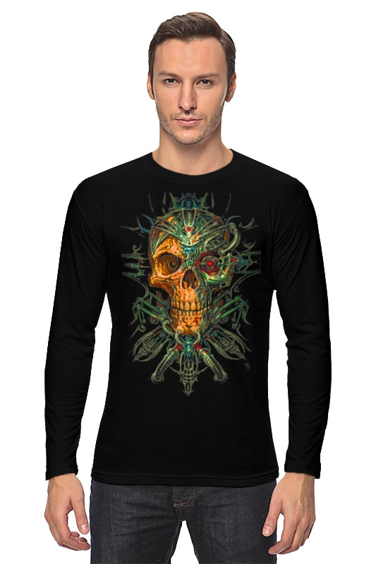 Лонгслив Printio Skull art лонгслив printio low poly skull