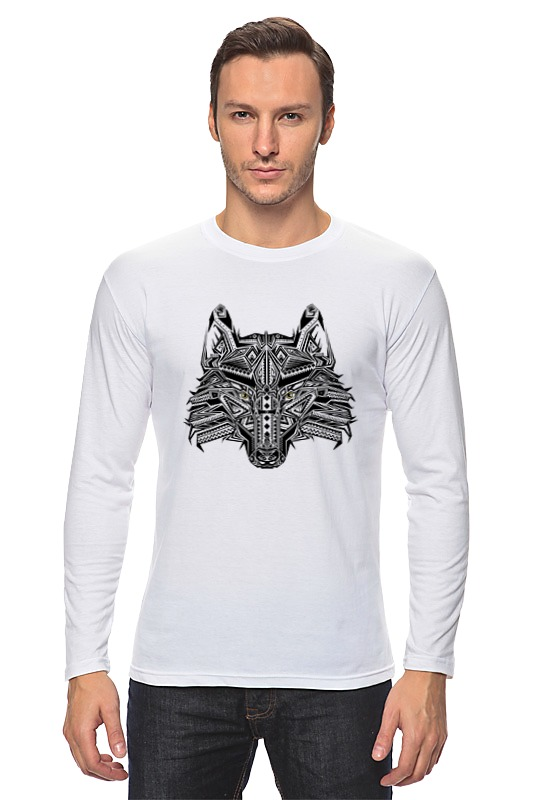 Лонгслив Printio Этнический волк кружка printio этнический волк