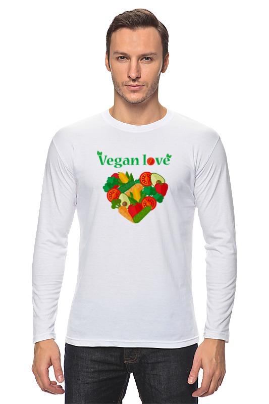 Лонгслив Printio Vegan love afro vegan