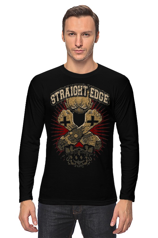Лонгслив Printio Straight edge майка классическая printio straight edge