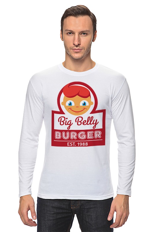 цена Лонгслив Printio Big belly burger