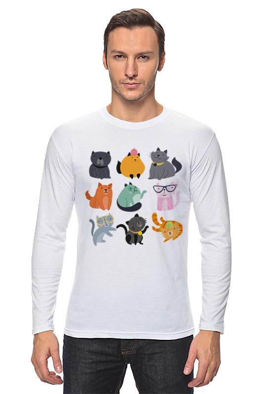 Лонгслив Printio Цветные кошки лонгслив printio цветные кеды