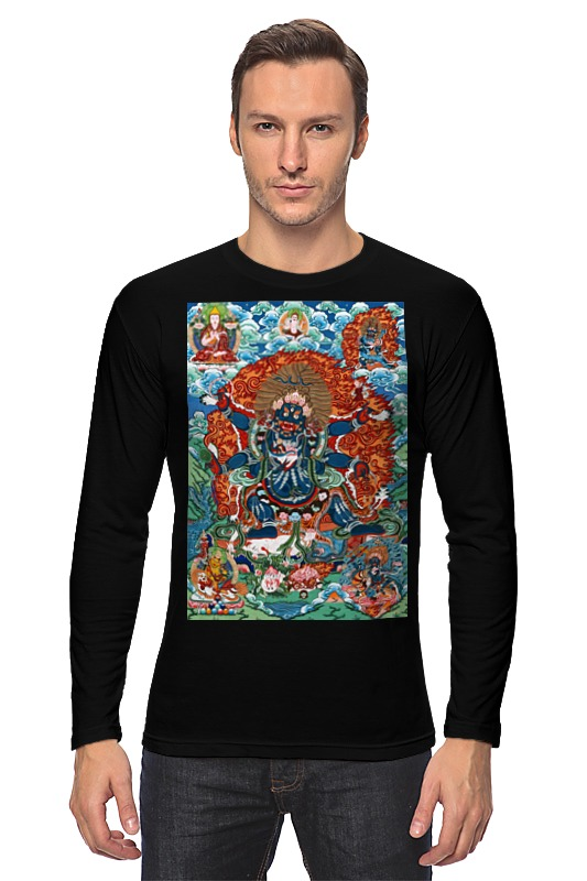 Лонгслив Printio Тибетская vajrabhairava mint green casual sleeveless hooded top