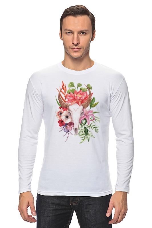 Лонгслив Printio Flower skull skull flower tank top with openwork lace back