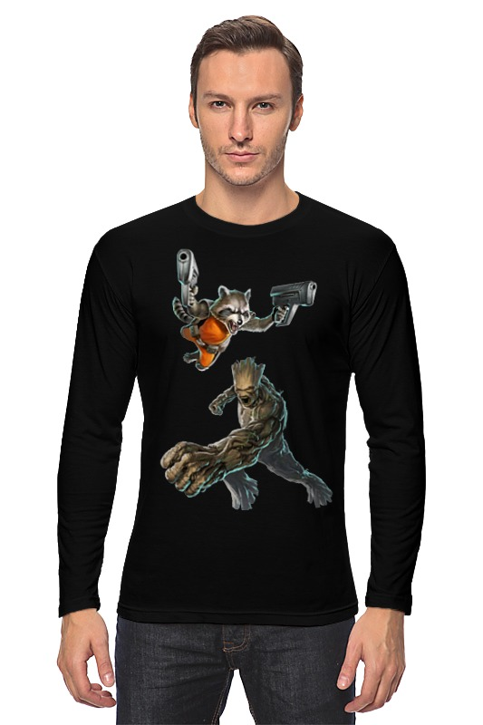 Лонгслив Printio Rocket raccoon and groot/енот ракета и грут кеды кроссовки низкие le coq sportif castillon twill cvs tech nylon ginger br