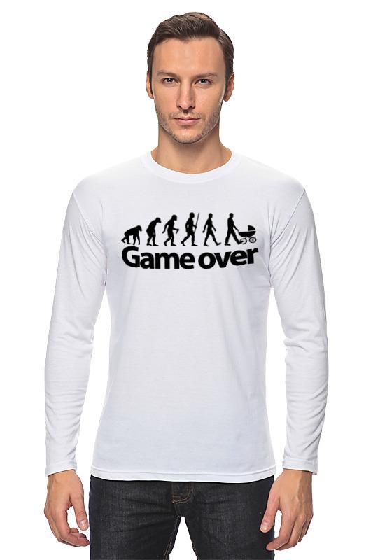 Лонгслив Printio Game over (игра окончена) лонгслив printio game over