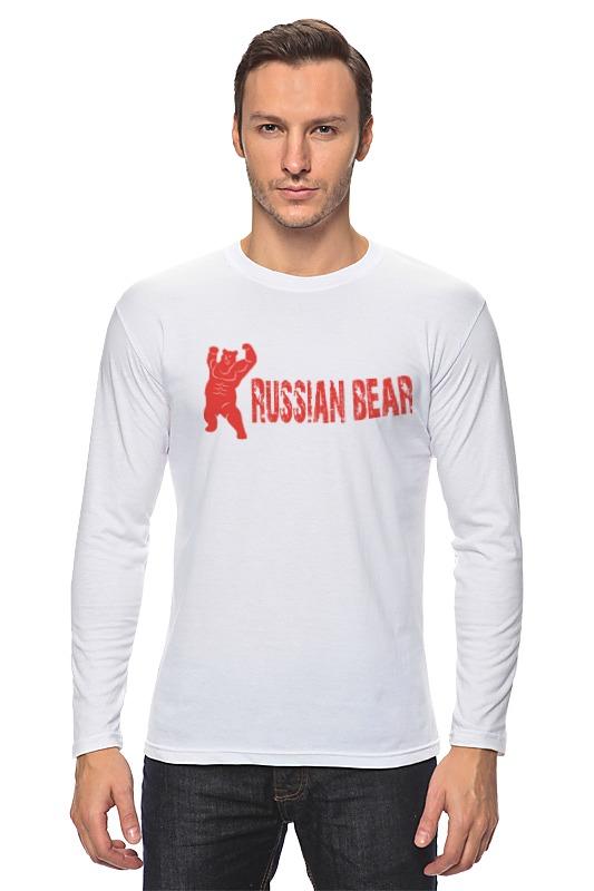 Лонгслив Printio Russian bear лонгслив printio bear beer медведь и мед