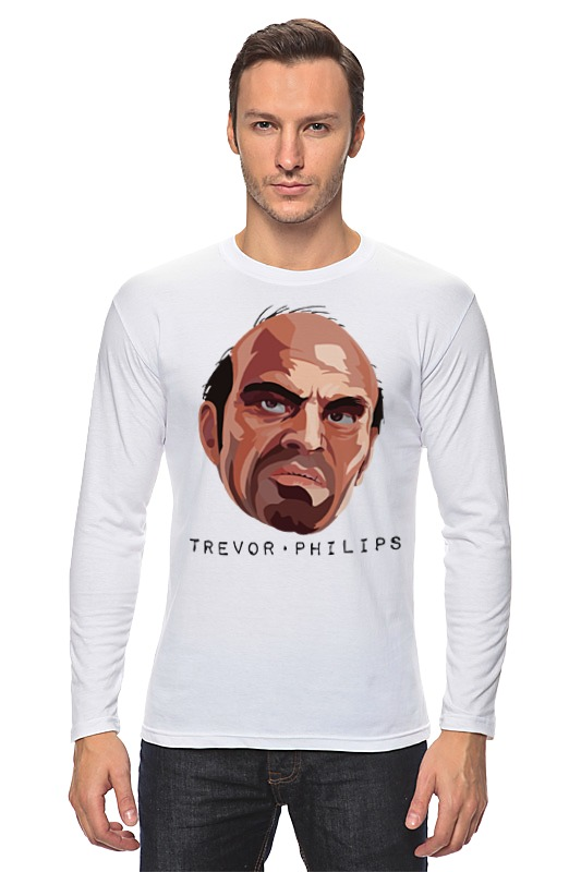 Лонгслив Printio Тревор из gta футболка классическая printio тревор филипс