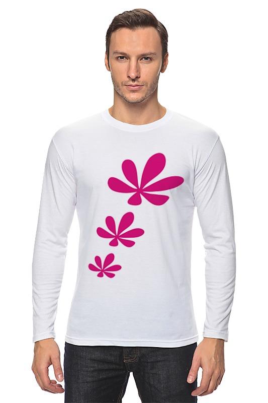 Лонгслив Printio Розовые цветы