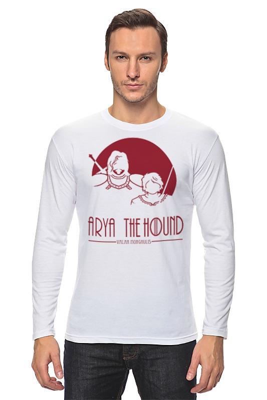 Лонгслив Printio Игра престолов. arya the hound hound рубашка hound модель 201903559