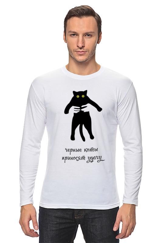 Лонгслив Printio Черные коты приносят удачу