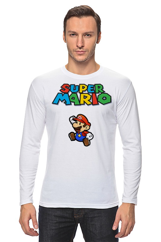 Лонгслив Printio Super mario