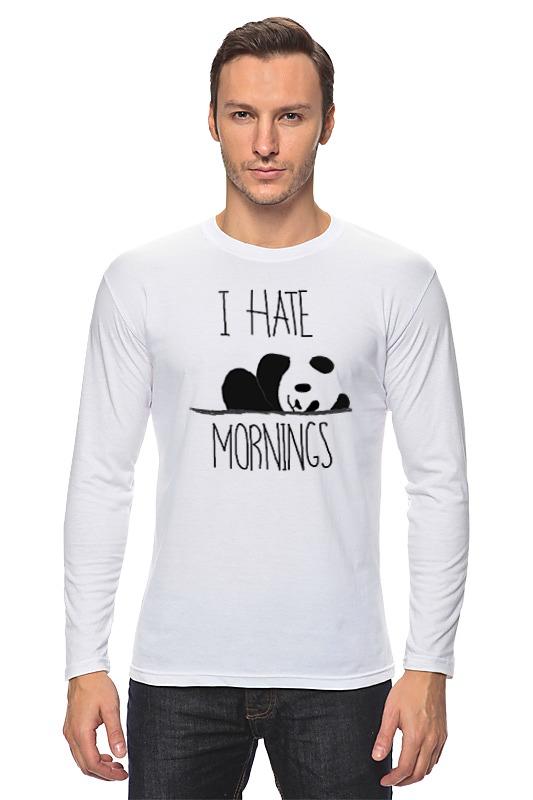 Лонгслив Printio Я ненавижу утро