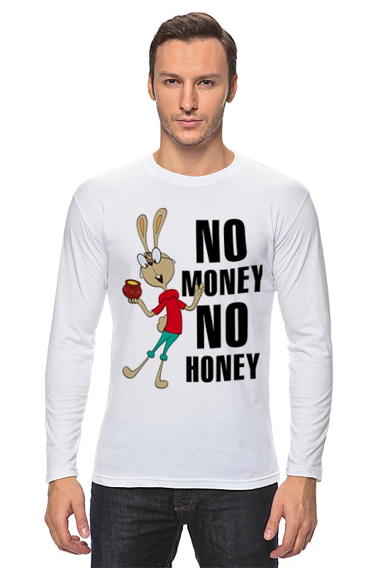 Лонгслив Printio No money no honey сумка printio no money no honey