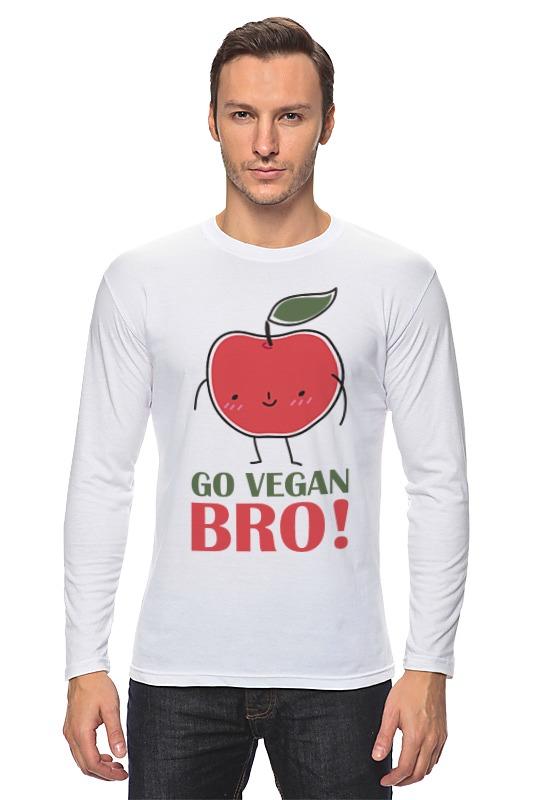 Лонгслив Printio Go vegan bro! лонгслив printio go vegan