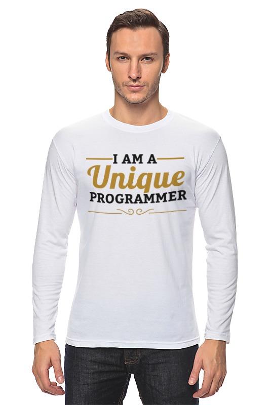 Лонгслив Printio Уникальный программист лонгслив printio программист programmer