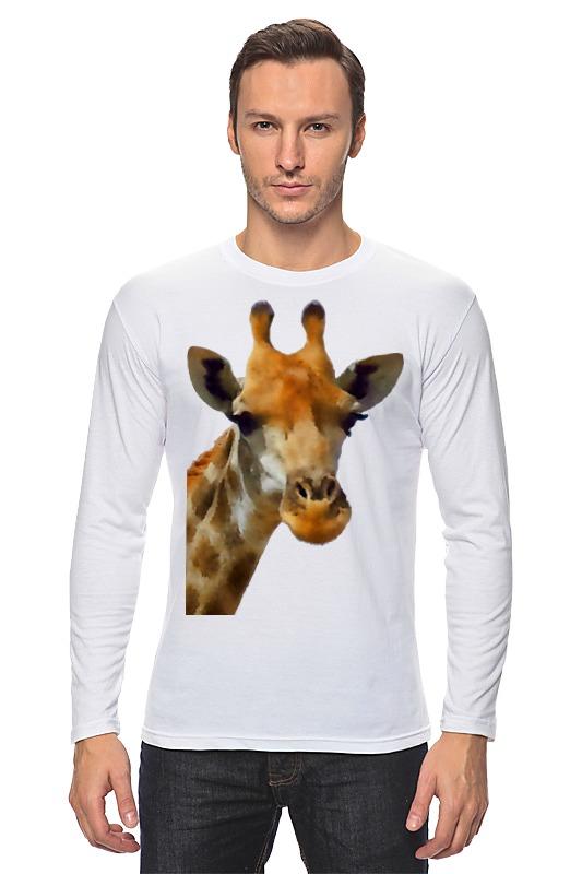 Лонгслив Printio Жираф babyono жираф желтый