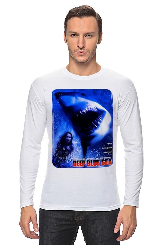Лонгслив Printio Глубокое синее море боа синее