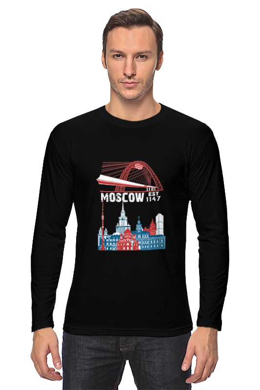 Лонгслив Printio Москва. moscow. establshed in 1147 (1) faithless live in moscow