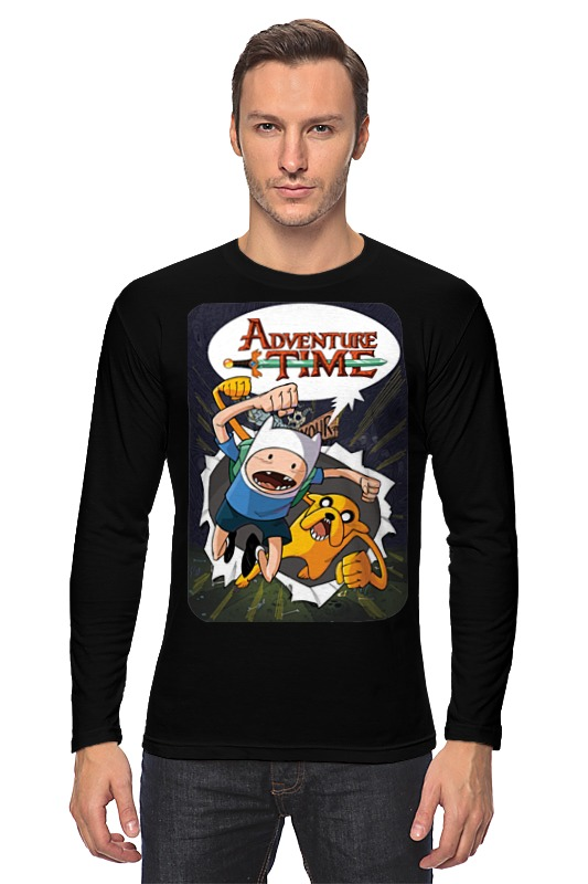 Лонгслив Printio Adventure time finn and jake фигурка scalers adventure time finn 5 см