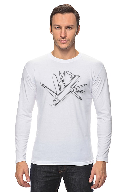 Лонгслив Printio Швейцарский нож тросы тормозные jagwire mountain pro brake комплект для мтв mck418