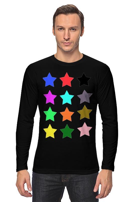 Лонгслив Printio stars on the black пробковый пол corkstyle adventures stars black