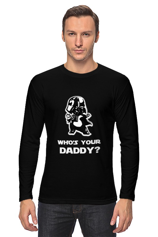 Лонгслив Printio Кто твой папочка? who is your daddy? лонгслив printio daddy s little monster