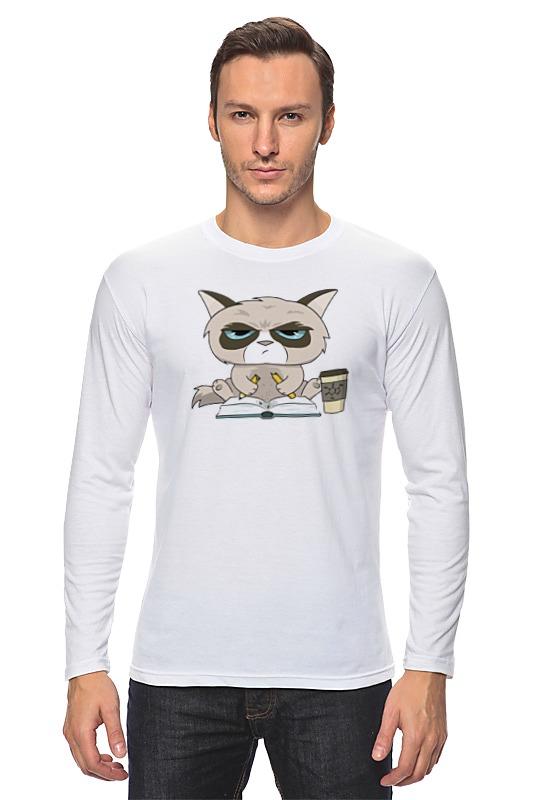 Лонгслив Printio Грустный кот лонгслив printio грустный кот grumpy cat