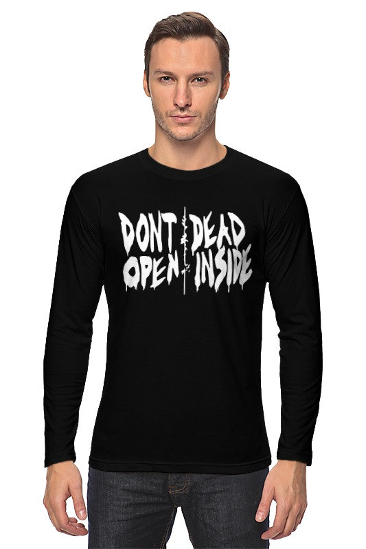 Лонгслив Printio Don't open dead inside dead inside volume 1