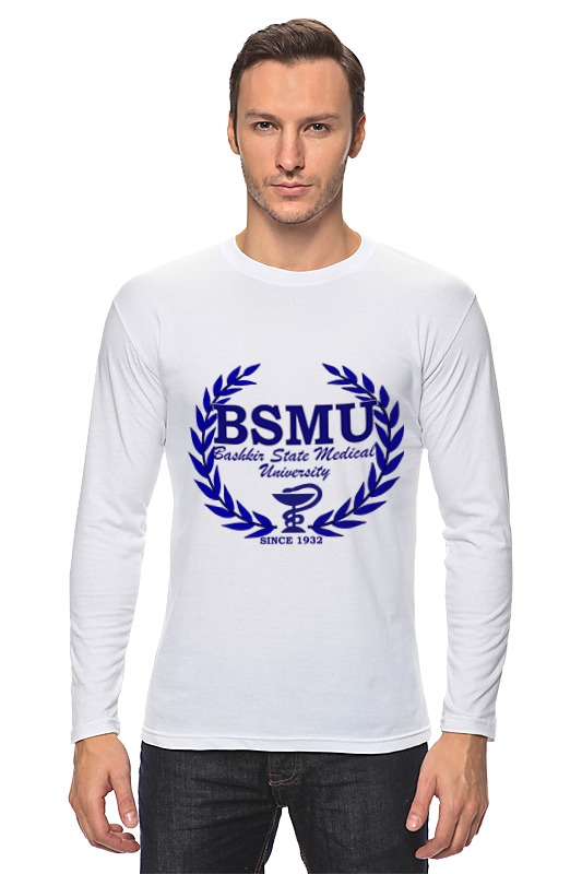 Лонгслив Printio Bsmu- bashkir state medical university толстовка wearcraft premium унисекс printio bsmu bashkir state medical university