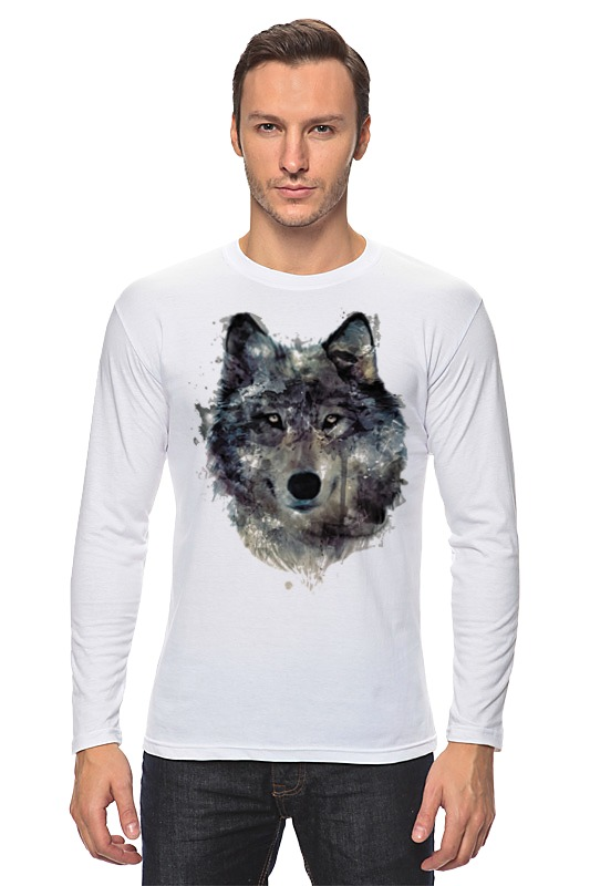Лонгслив Printio Серый волк лонгслив olsen цвет серый