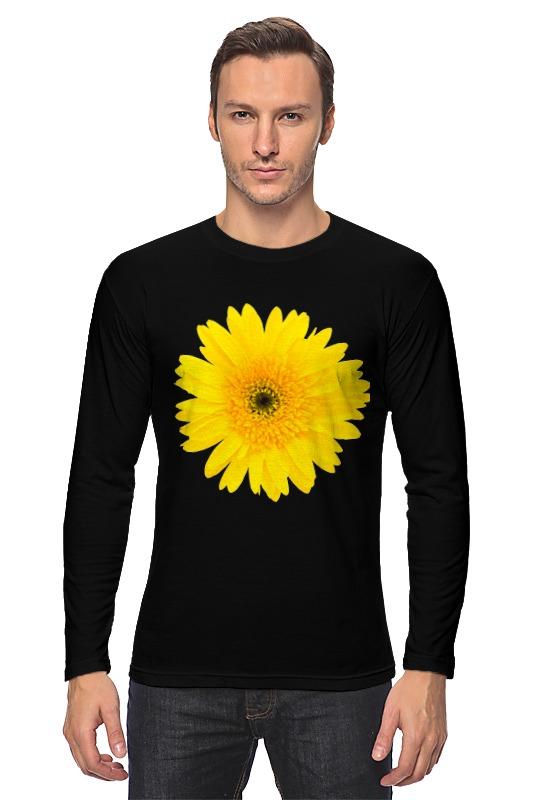 Лонгслив Printio Желтый цветок цена