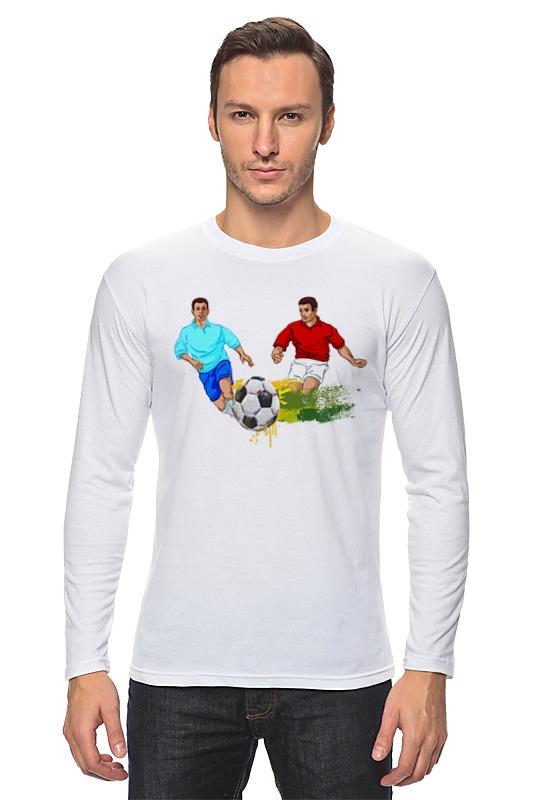 Лонгслив Printio Футболисты игра футболисты и красавицы барбоскины