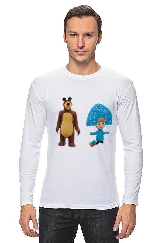 Лонгслив Printio Кукла-девочка маша и миша. смешные озорные футболка классическая printio кукла девочка маша и миша смешные озорные