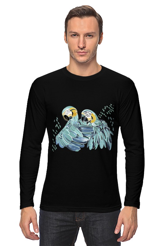цена на Лонгслив Printio Влюбленные попугайчики