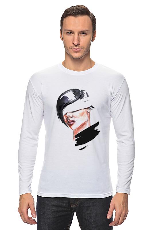 Лонгслив Printio Девушка с завязанными глазами футболка классическая printio девушка с завязанными глазами