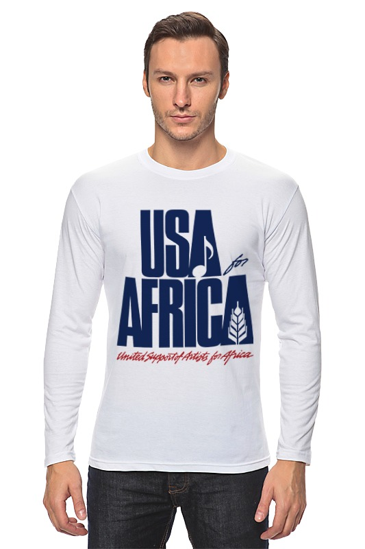 Лонгслив Printio Usa for africa africa