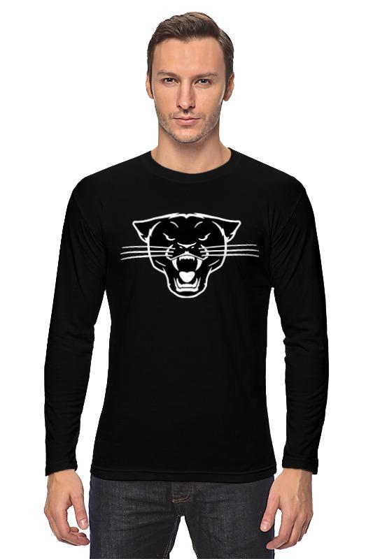 где купить Лонгслив Printio Черная пантера (black panther) по лучшей цене