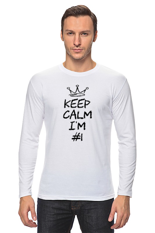 Лонгслив Printio Keep calm i am #1 футболка wearcraft premium printio keep calm i am 1 1