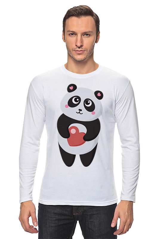 Лонгслив Printio Панда с сердечком позиционеры для сна candide позиционер с подголовником воздухопроницаемая панда air