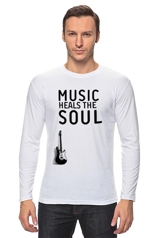 Лонгслив Printio Music heals the soul 16 soul music