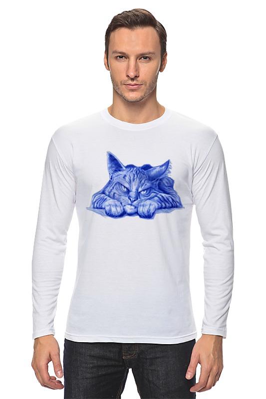 Лонгслив Printio Задумчивый кот цены онлайн