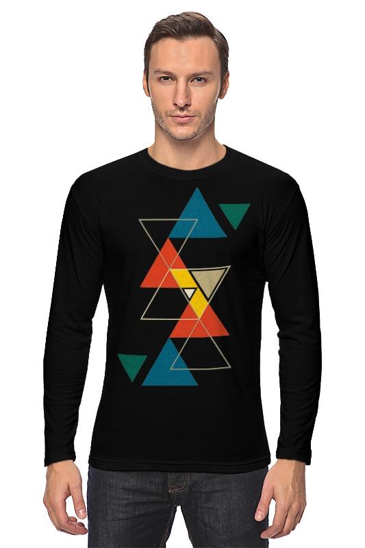 Лонгслив Printio Треугольник черный треугольник