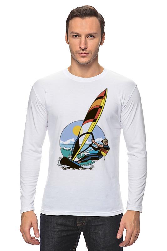 Лонгслив Printio Спортсмен..отдых...пляж..море лонгслив printio арахис спортсмен