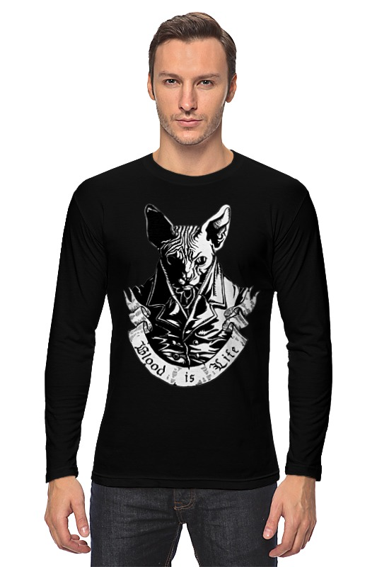 Лонгслив Printio Плохой кот футболка стрэйч printio плохой кот