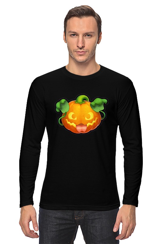 Лонгслив Printio Pumpkin plus size pumpkin halloween ripped sweater